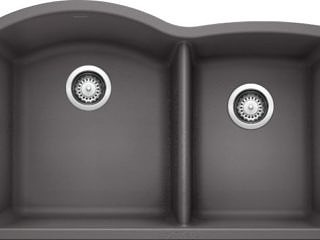 Blanco  –   60/40  –  Diamond Sink –  Cinder  –  441469