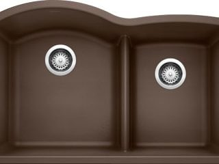 Blanco – Diamond 60/40 Low Divide – Cafe Brown – 441597